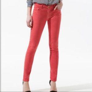 Zara Trafaluc Core Denim Slim Coral Jeans